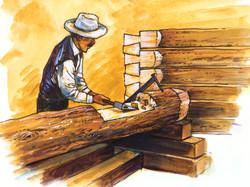"""Log House Building"""