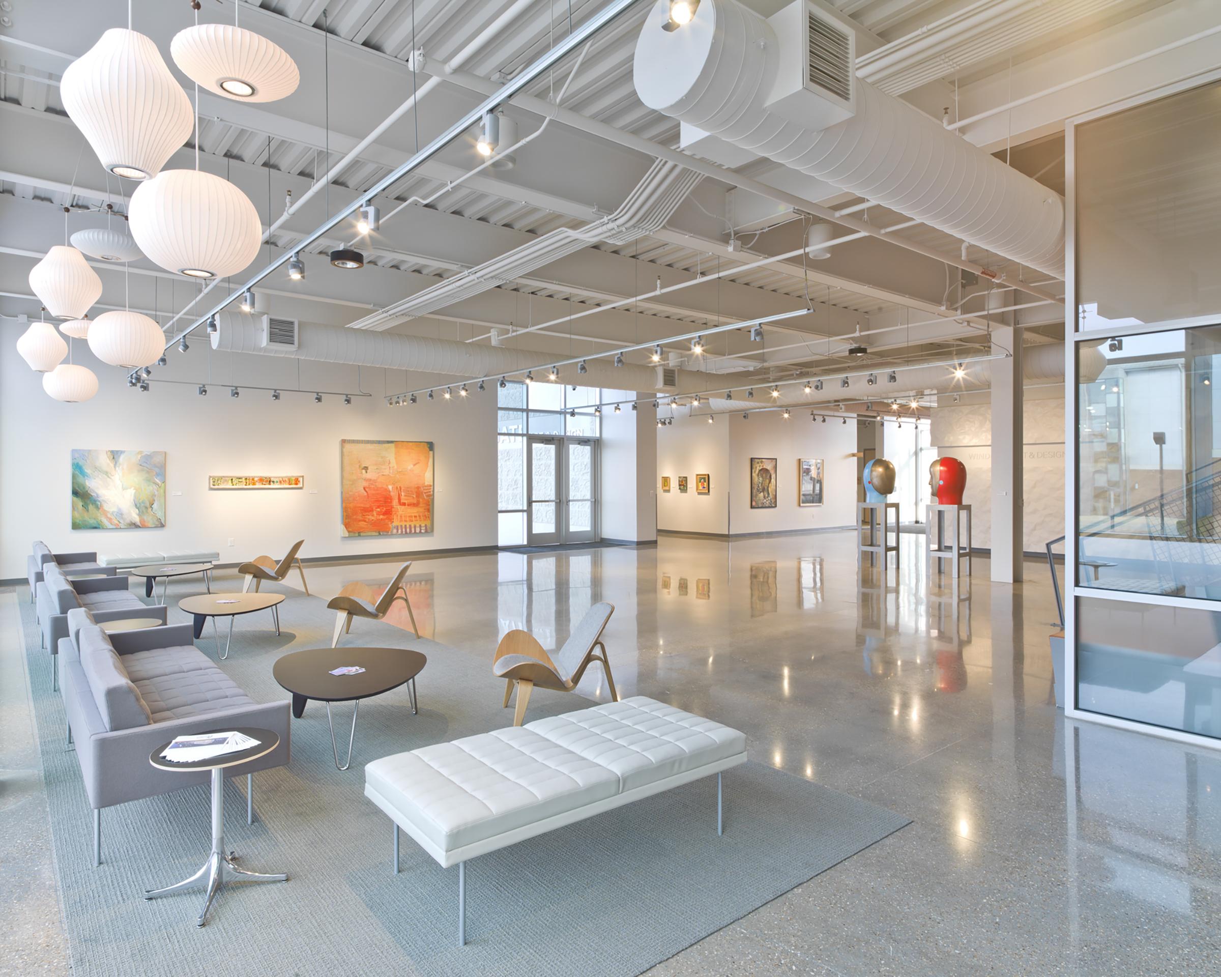 Lobby at UAFS Windgate Art & Design