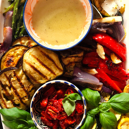 Roasted Vegetables with White Balsamic Vinaigrette