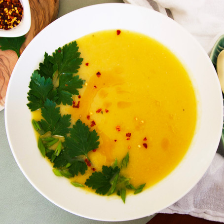 Roasted Acorn Squash Miso Soup