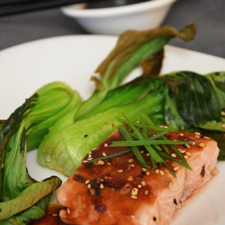 Baked Salmon with Soy-Lime Glaze