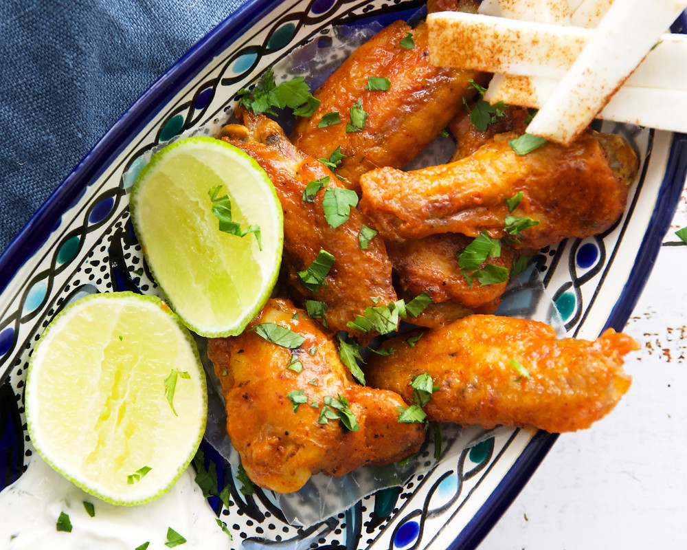 Cholula Chicken Wings with Cilantro Lime Ranch Dressing