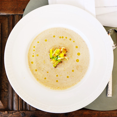 Roasted Cauliflower, Leek & Lemon Soup