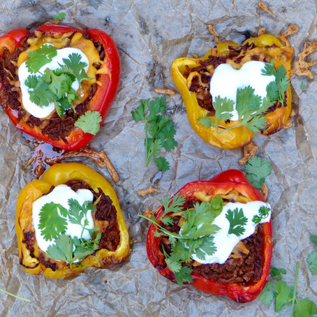 Smoky Chipotle Beef Stuffed Peppers