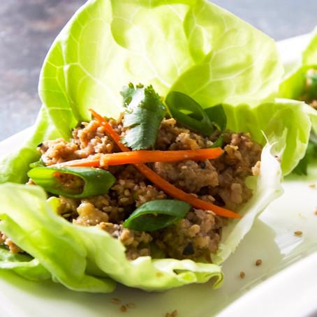 Chicken & Shiitake Mushroom Lettuce Wraps