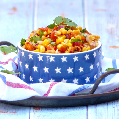 Sweet & Spicy Corn and Roast Pepper Salsa