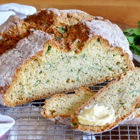Parsley and Poppy Seed Irish Soda Bread