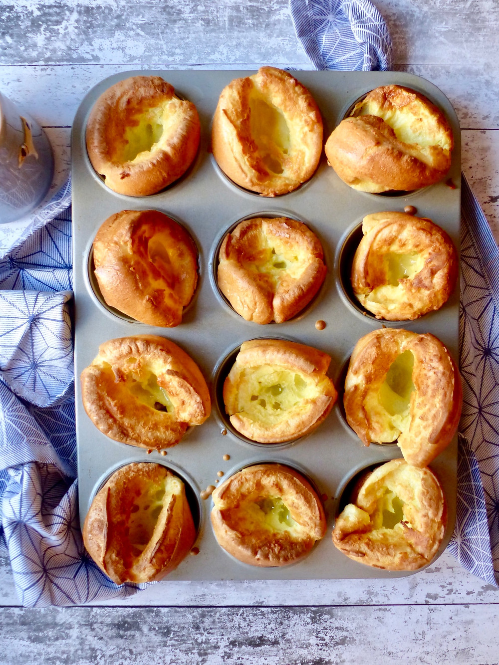 Light and crispy Yorkshire puddings, also known as popovers