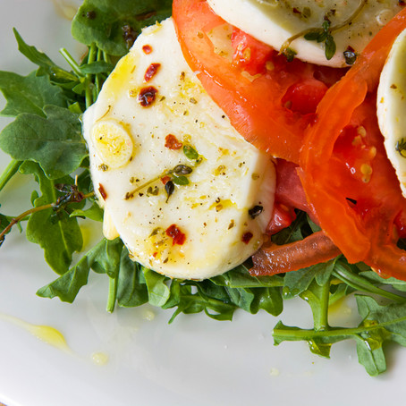 Marinated Mozzarella Caprese Salad