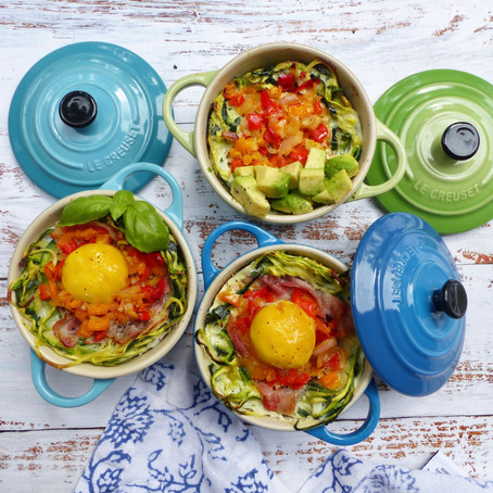 Baked Zoodle Nests