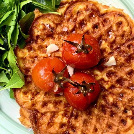 Chaffle (Cheese & Egg Waffle)