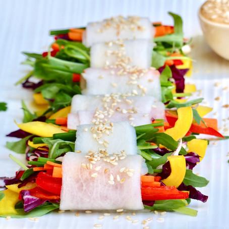 Daikon Radish Veggie Roll Ups