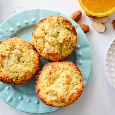 Almond Flour Orange & Chia Muffins