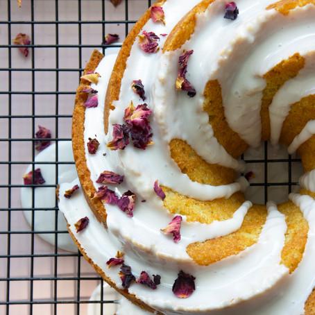 Orange Ricotta Cake with Rose Icing