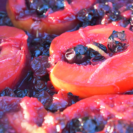 Tipsy Grilled Nectarines & Blueberries