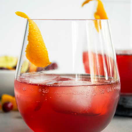 Cranberry, Aperol & Ginger Cocktail