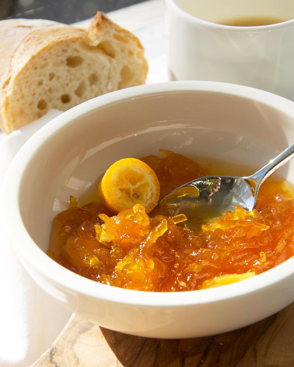 Close up of Kumquat Whiskey Marmalade