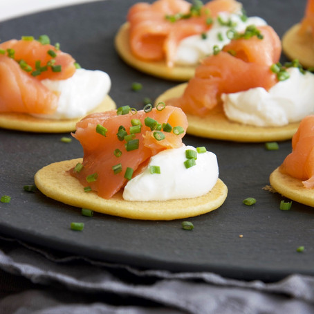 Chickpea Blinis with Smoked Salmon