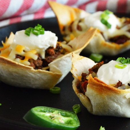 Super Bowl Taco Cups