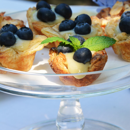 Mini Blueberry Tarts with Lemon-Lavender Pastry Cream