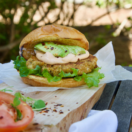 Veggie Chickpea Burger (Vegan and gluten free!)