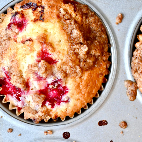 Red Currant Streusel Muffins