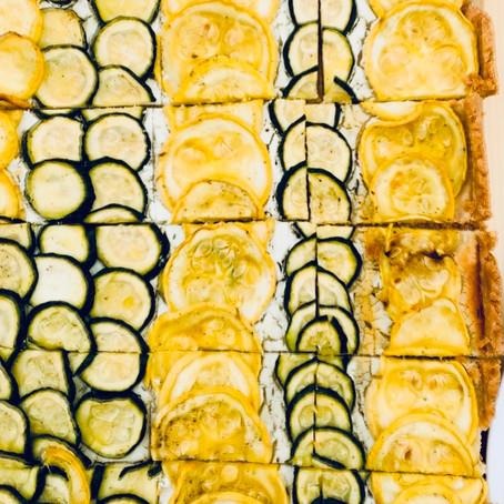 Zucchini & Goat Cheese Tart