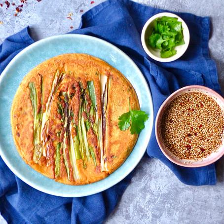 Asparagus & Gochujang Pancakes