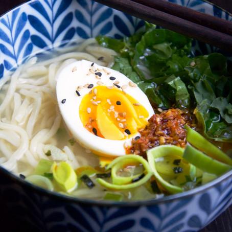 Miso, Leek & Noodle Soup