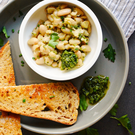 Creamy Cannellini Beans with Herbs