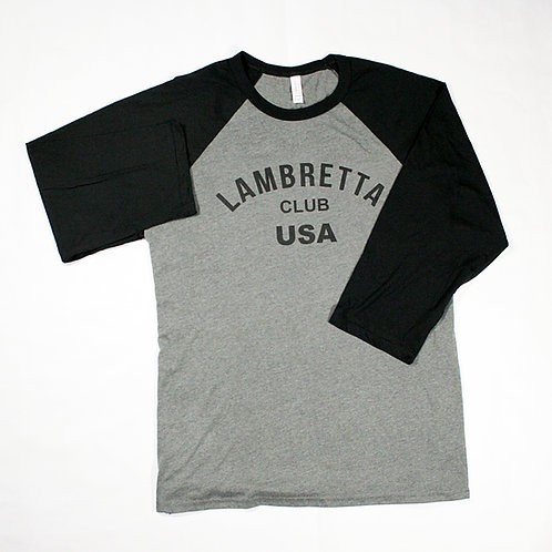 LCUSA Baseball T-Shirt Blk&Grey