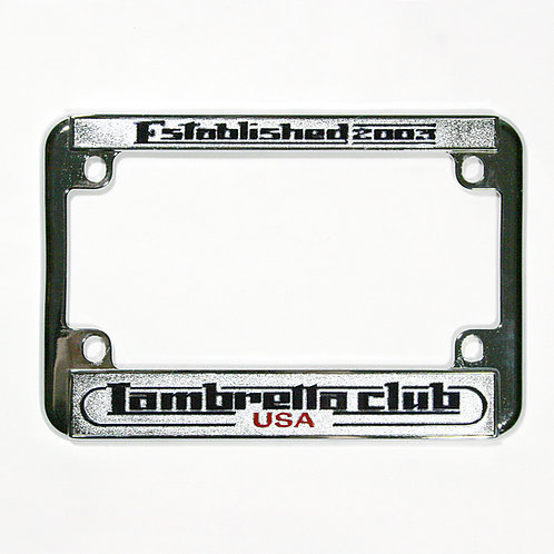 Lambretta Club USA License Plate Frame