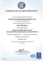 CFM Tecgnologies ISO 14001 2015