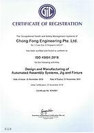 CFM Tecgnologies ISO 45001 2018