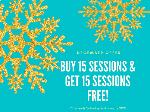 Buy 15 Salt Therapy Sessions Get 15 Sessions FREE!