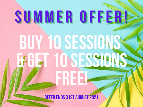 Buy 10 Salt Therapy Sessions Get 10 sessions FREE!