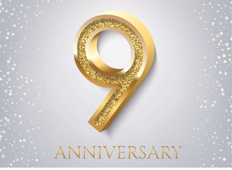 September Newsletter - Happy Anniversary to us!