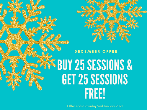Buy 25 Salt Therapy Sessions Get 25 sessions FREE!