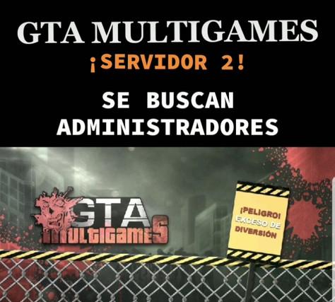Se buscan admins para GTA Multigames S2