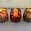 Thumbnail: Thick votive glass bowl bark design brown