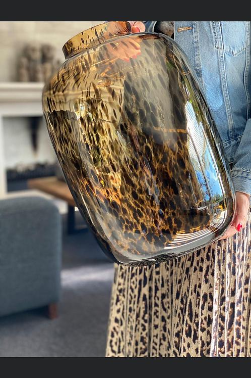 Bulb spotted vase large