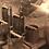 Thumbnail: Handmade cylinder candle bordeaux