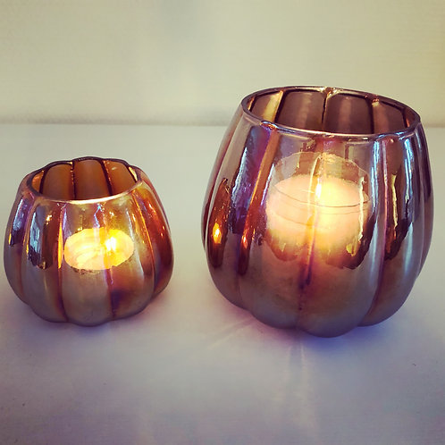 T-lightholder votive pumpkin-glass small/large