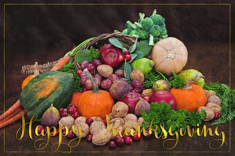 happy thanksgiving cornucopia from nutritious ways