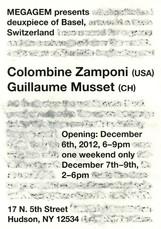 Flyer for Hudson Show for deuxpiece Basel 2012