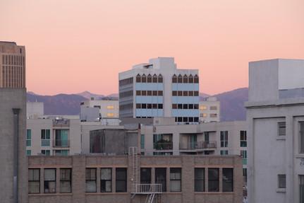 DTLA by sunset 2018