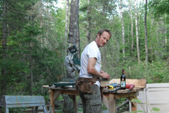 Workbench in the woods