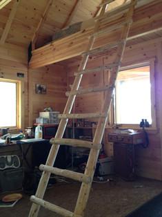Hand made, timber, loft ladder