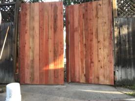 Redwood gate