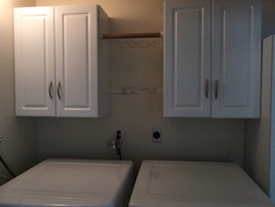 Cabinets assembled and installed